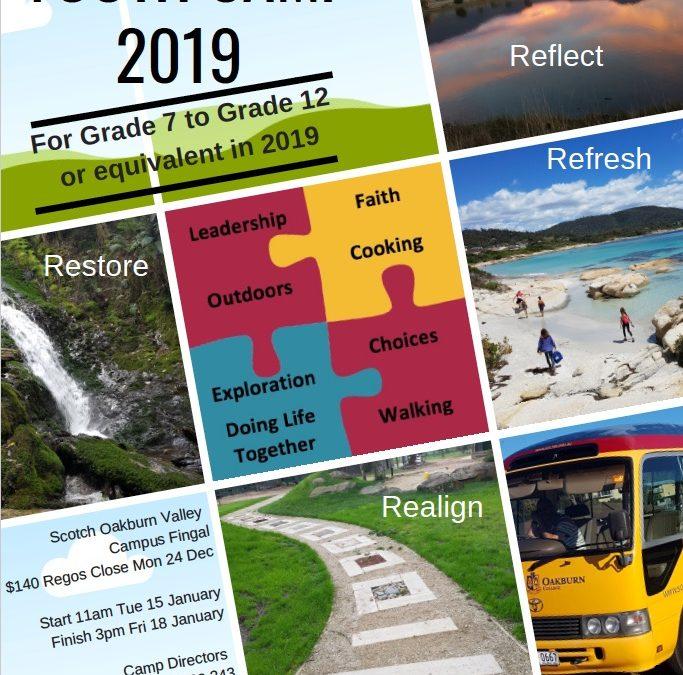Youth Camp January 15 – 18 2019